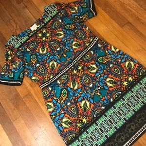 ECI ABSTRACT COLORFUL DRESS